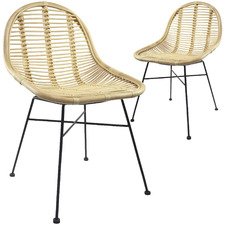 Adeline Rattan Dining Chairs (Set of 2)