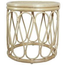 Natural Loop Rattan Side Table