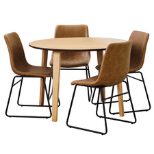 4 Seater Natural Regus Dining Set