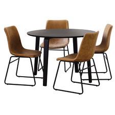 4 Seater Black Regus Dining Set