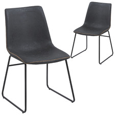 Regus Faux Leather Dining Chairs (Set of 2)