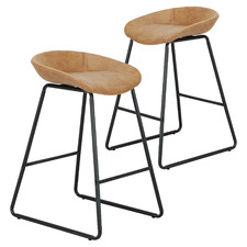 66cm Remy Faux Leather Counter Stools (Set of 2)