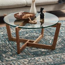 Monterey Glass & Oak Coffee Table