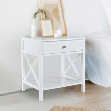 White Oskar Bedside Table