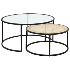 2 Piece Fusion Nesting Coffee Tables Set
