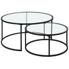 2 Piece Coco Nesting Coffee Tables Set