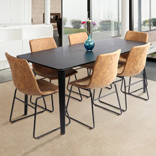 6 Seater Black Regus Dining Set