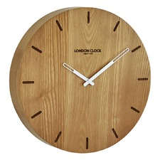 33cm Elis Solid Wood Wall Clock