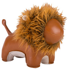Tan Lion Faux Leather Bookend