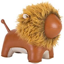 Tan Lion Faux Leather Doorstop