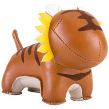 Tan Tiger Faux Leather Paperweight