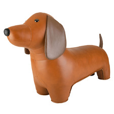 Kids' Tan Classic Dachshund Stool