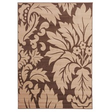 Viva Modern Floral Brown Contemporary Rug
