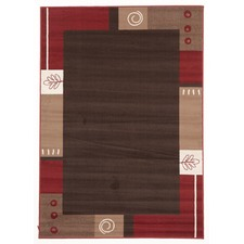 Viva Modern Brown / Beige / Red Contemporary Rug