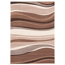 Viva Modern Wave Brown Contemporary Rug