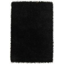 Black Hand Made Shag Tufted Rug