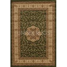 Samatra Traditional Persian Style Green Neo Ivory Rug