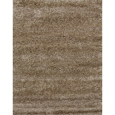 Piccolo Plain Dark Beige Shag Rug