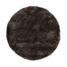 Deluxe Shag Ash Round Rug