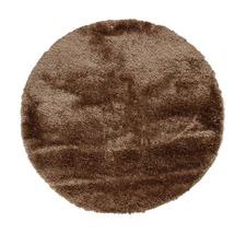 Deluxe Shag Latte Round Rug
