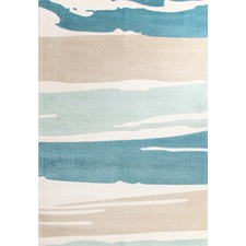 Brush Strokes Blue Tufted Rug