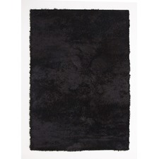 Jet Black Shag Tufted Rug
