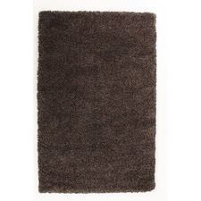 Ultra Thick Brown Grey Shag Rug