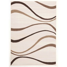 Viva Modern Latte with Chocolate/Caramel Swirls Rug