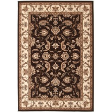 Stunning Formal Floral Rug Brown