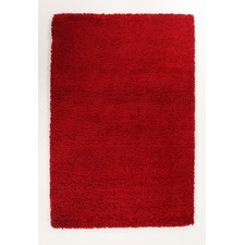 Ultra Thick Red Shag Rug