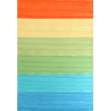 Rainbow Green Stripe Rug
