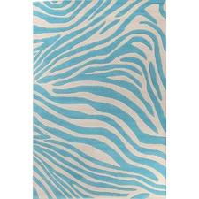 Deluxe Zebra Patterned Rug