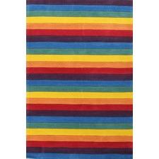 Kids' Beautiful Striped Hand-Tufted Rug