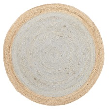 Jute Natural Silver Blue Rug