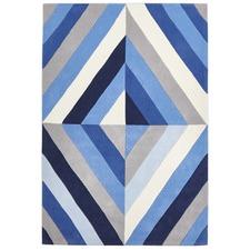 Crystal Prism  Blue Rug