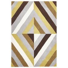 Crystal Prism Yellow/Brown Rug