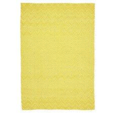 Villa Modern Herringbone Yellow Rug