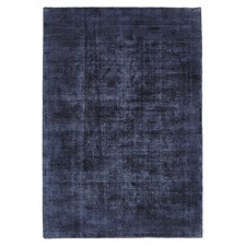 Luxe Modern Distressed Navy Rug