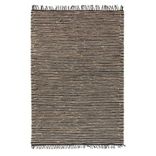 Bondi Leather and Jute Natural Nude Rug