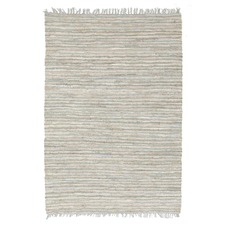Bondi Leather and Jute Sky Blue Rug