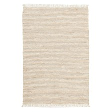 Bondi Leather and Jute White Rug