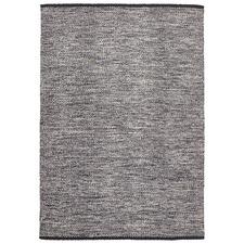 Livvy Charcoal Black Flat Weave Rug
