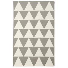 Pyramid Flat Weave Rug Grey
