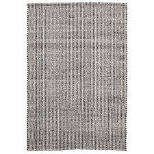 Carlos Felted Wool Rug Black Natural