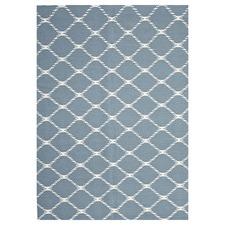 Flat Weave Stitch Design Rug Blue