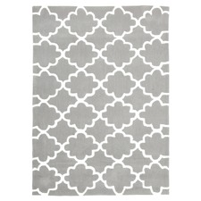 Trellis Design Grey Rug