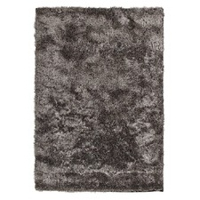 Charcoal Shag Tufted Rug
