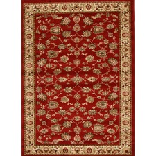 Samatra Traditional Persian Style Red Ivory Rug