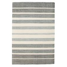 Meli Teal 100% Pure Wool Scandinavian Style Flatweave Rug