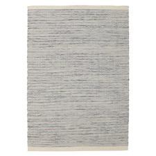 Mani Blue 100% Pure Wool Scandinavian Style Flatweave Rug